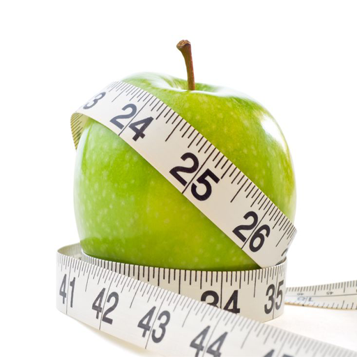Stock Images similar to ID 64413814 - green apple and measuring tape.