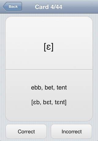 iStudy: IPA (International Phonetic Alphabet) iPhone Screenshot 2