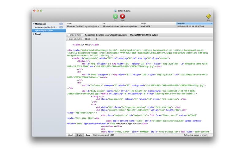 MockSmtp Screenshot - 3