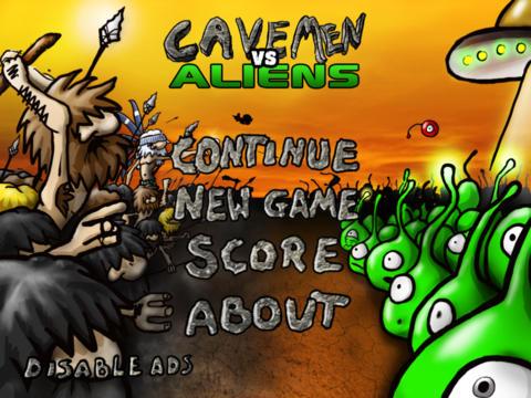 Cavemen Versus Aliens