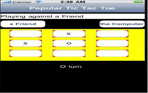 Popular Tic Tac Toe