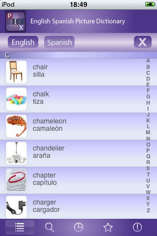 PIX English Spanish Picture Dictionary iPhone Screenshot 5