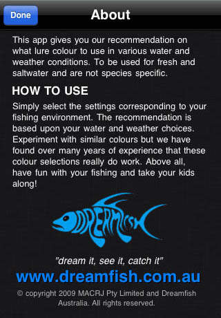 Lure A Fish - Fishing Lure Color Picker iPhone Screenshot 3