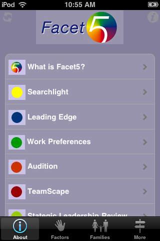 Facet5 Guide iPhone Screenshot 1