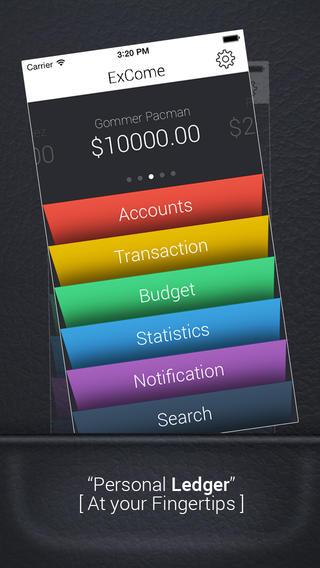 ExCome - Income Expense Budget Tracker