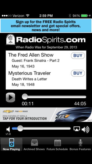Radio Spirits iPhone Screenshot 1