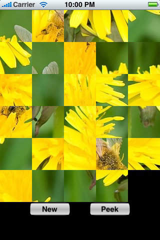 slide Puzzle Free Flower Puzzles iPhone Screenshot 1
