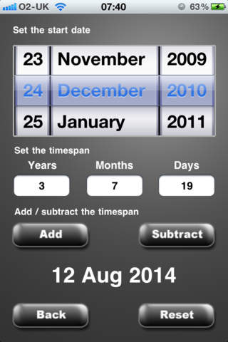 Date Calculator & Date Difference iPhone Screenshot 4