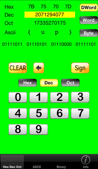 iHexView iPhone Screenshot 1