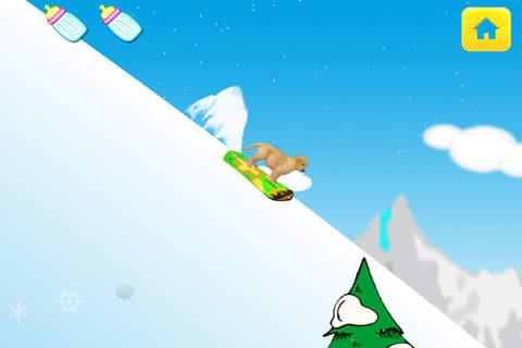 Baby Pet Snowboarding