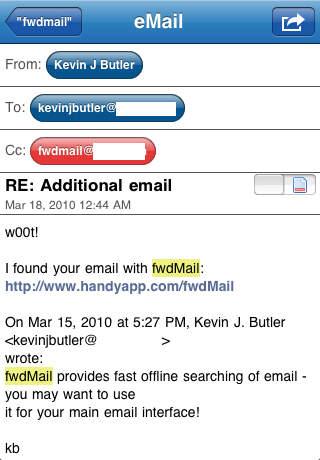 fwdMail iPhone Screenshot 4