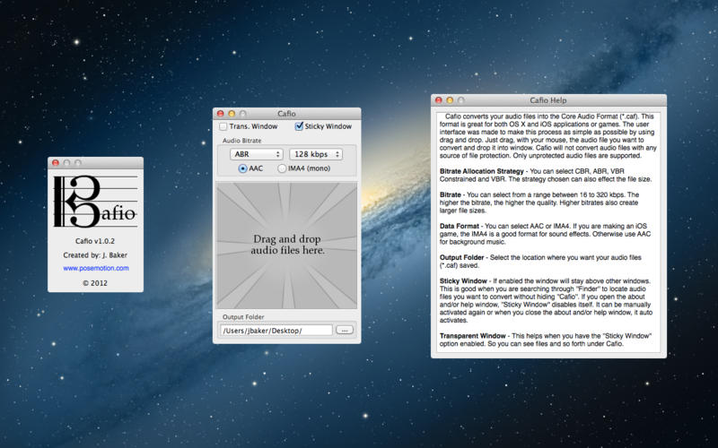 Cafio - caf 音频文件转换工具[OS X]
