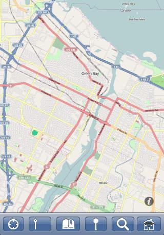 Green Bay WI USA Map Offline