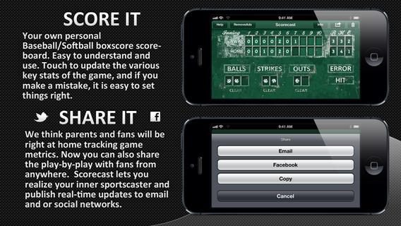 Scorecast - Baseball Softball Scoreboard