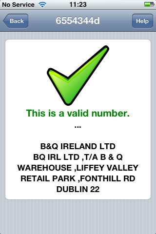 Irish Vat Number Checker