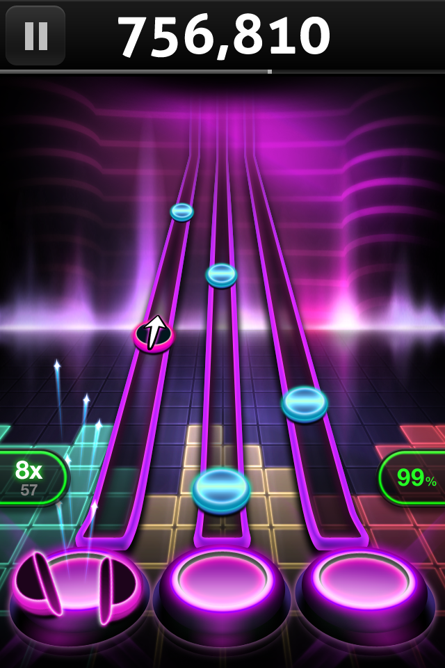Before you grab this app, go check out tap tap revenge tour, which is brand new and free!
