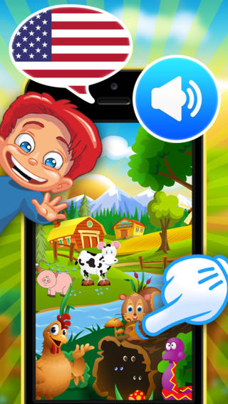 Learn American English with Animalia - Interactive Talking Animals - fun educational game for kids t