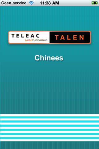 TeleacTalen Chinees iPhone Screenshot 1
