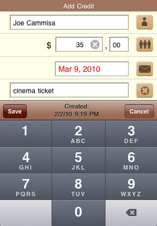 OweMe - Lending Manager iPhone Screenshot 5