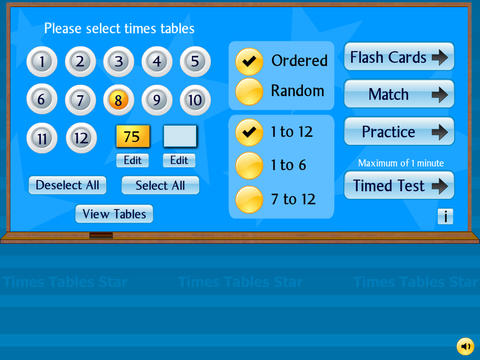 Times Tables Star