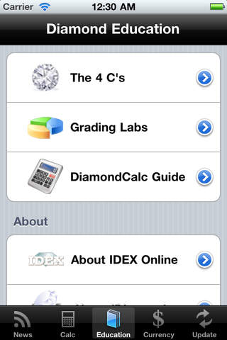 iDiamonds (Estimated Retail Diamond Price for Consumers) iPhone Screenshot 2