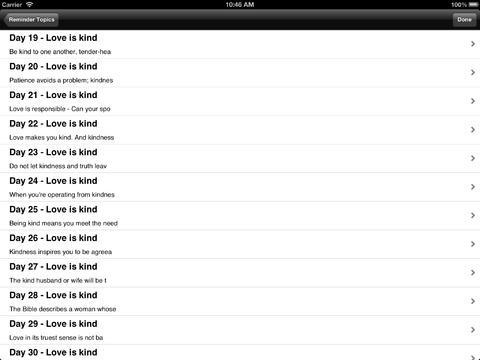 The Love Dare: Reminders iPad Screenshot 4