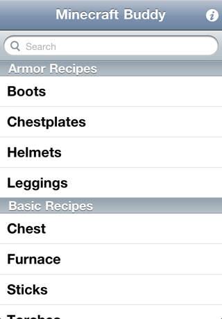 Minecraft Buddy iPhone Screenshot 1