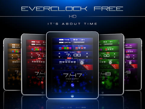 Everclock HD Free :: Alarm Clock iPad Screenshot 1
