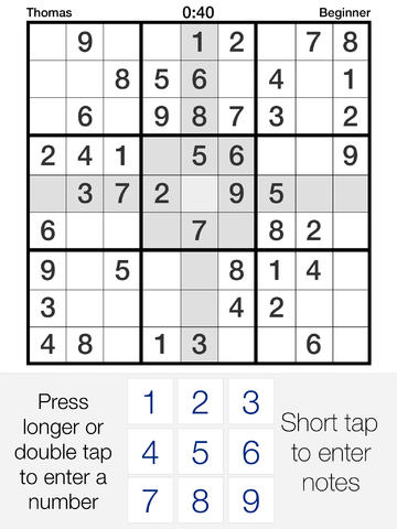 Pure Sudoku - the App screenshot