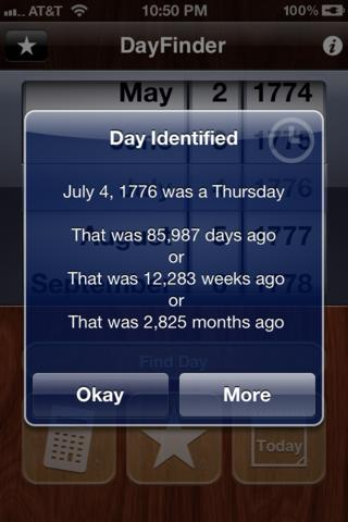DayFinder iPhone Screenshot 2
