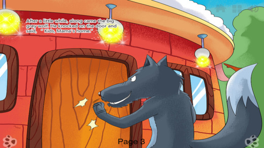 Wolf and the Seven Little Goats - bedtime fairy tale Interactive iBigToy