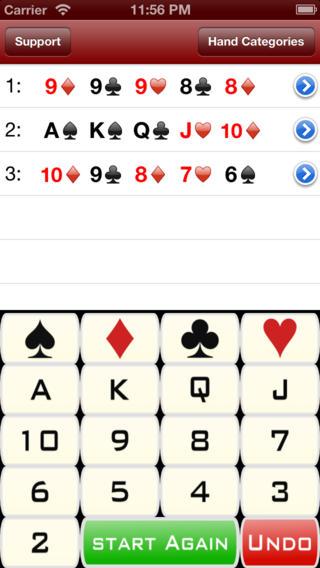 Poker Hands Calculator