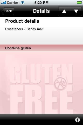 Gluten Free Info screenshot 2