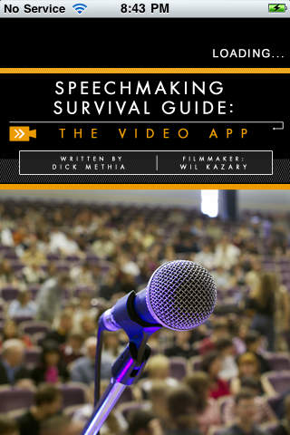 Speechmaking Survival Guide: The Video App