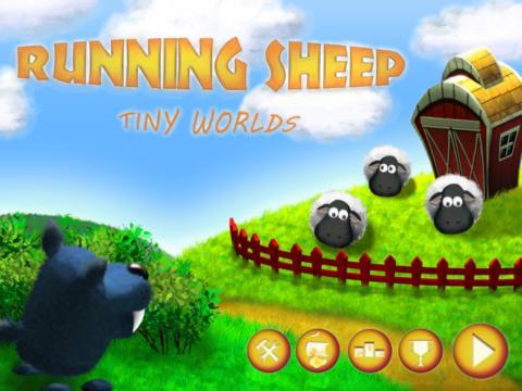 Running Sheep: Tiny Worlds HD screenshot 1