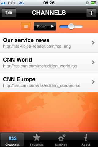 RSS Voice Reader