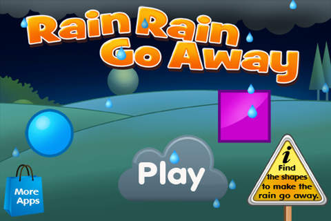 Rain Rain Go Away Lite - Fun with Shapes