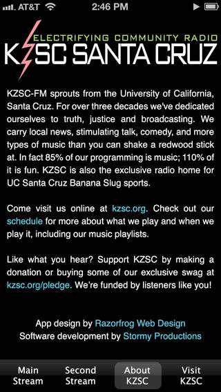 KZSC Radio iPhone Screenshot 3