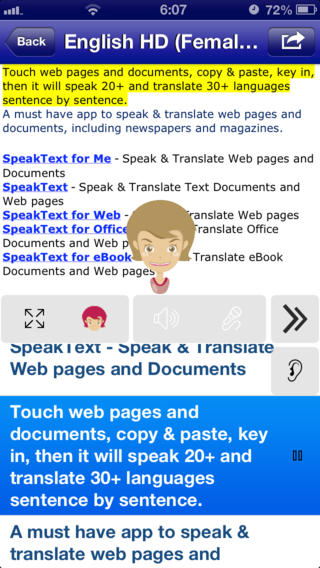 SpeakText for Me FREE - Speak & Translate Web pages and Documents