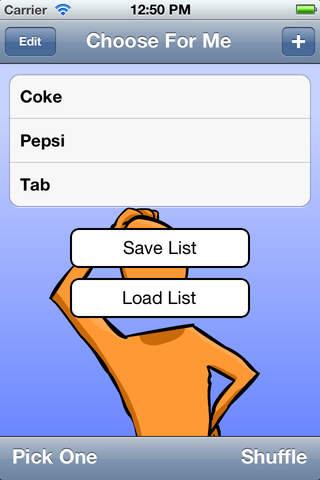 Choose For Me iPhone Screenshot 2