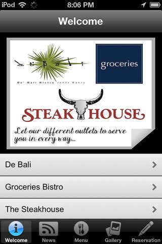 Debali Groceries Bistro Steakhouse App