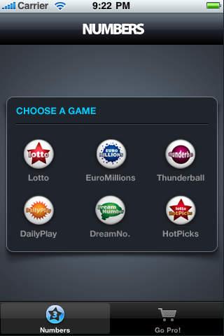 Lotto Shake iPhone Screenshot 1