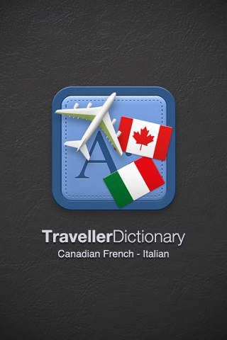 Traveller Dictionary and Phrasebook Canadian French - Italian