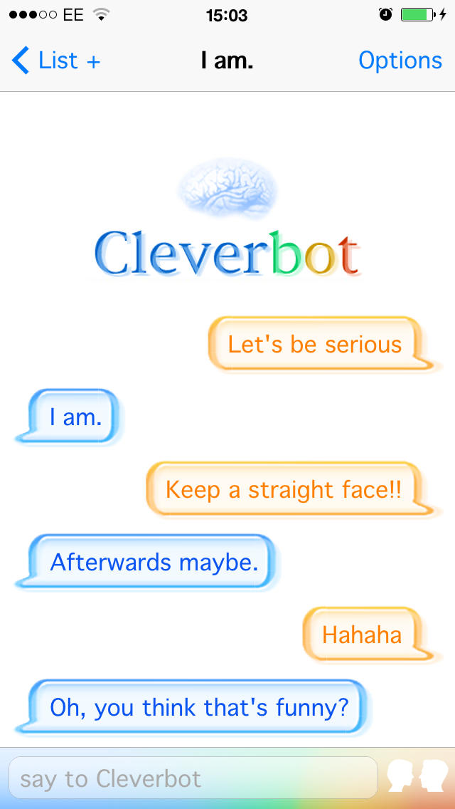 Cleverbot  Screenshot
