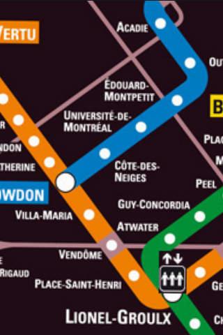 Montreal Metro Map iPhone Screenshot 3