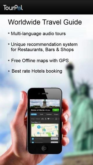 TourPal Travel Guide Map App – Hotels Audio Tour Guides City walks Restaurants Walking Tours GPS Tri