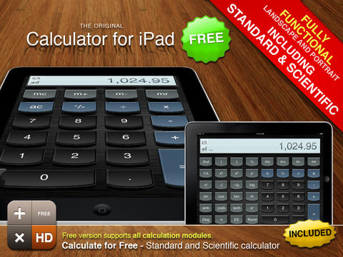 Calculator for iPad Free  Screenshot