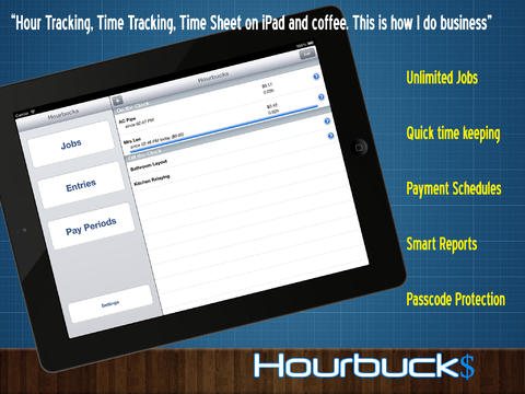 Hourbucks HD - Hours Tracker Timesheet and Timetracker