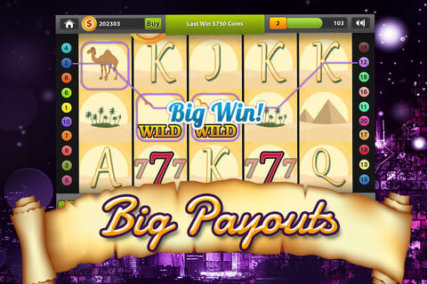 Aces High Exotic Slots Casino - Free Slot Game for Mobile with Split Symbols and Loose Reels! screenshot 2