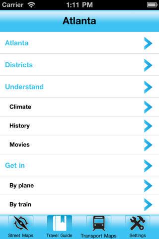 Atlanta Street Map Offline iPhone Screenshot 2